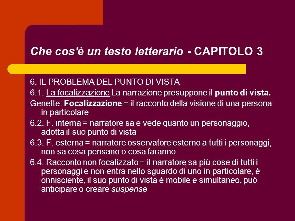 Che cos è un testo letterario - CAPITOLO 3