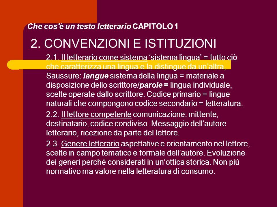 Che cos è un testo letterario CAPITOLO 1