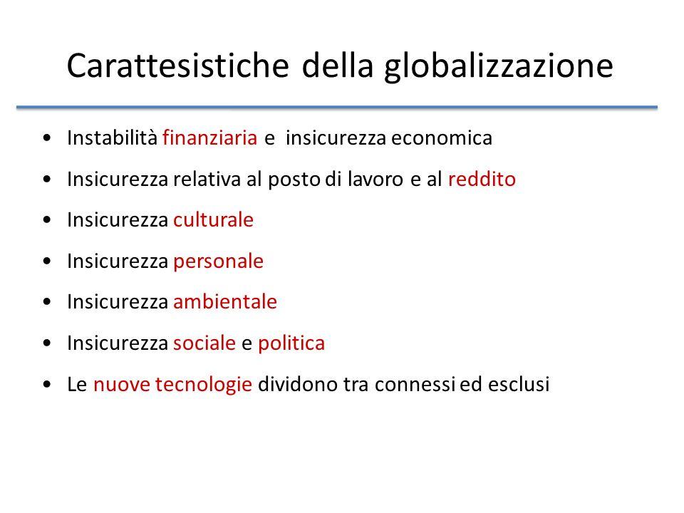 Carattesistiche della globalizzazione