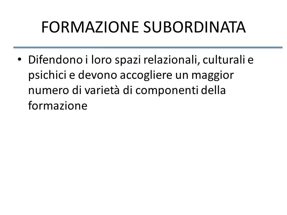 FORMAZIONE SUBORDINATA