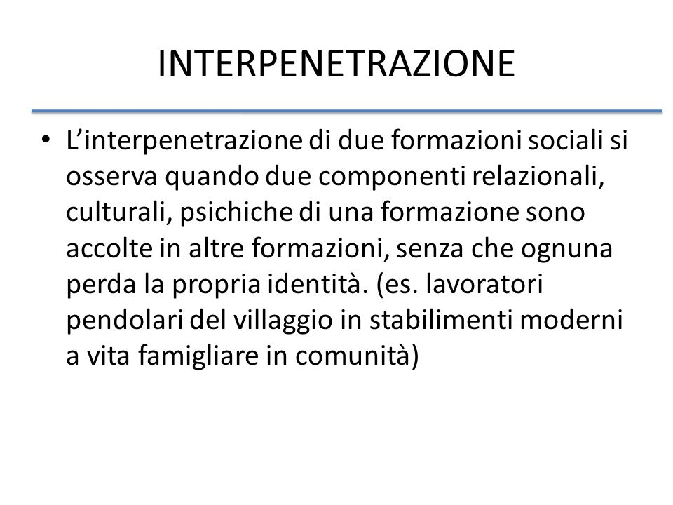 INTERPENETRAZIONE