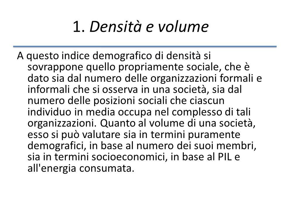 1. Densità e volume