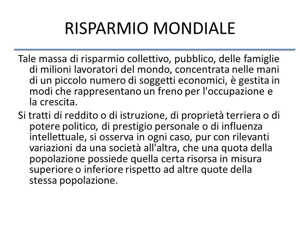 RISPARMIO MONDIALE