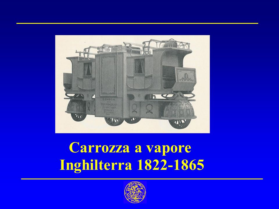 Carrozza a vapore Inghilterra 1822-1865