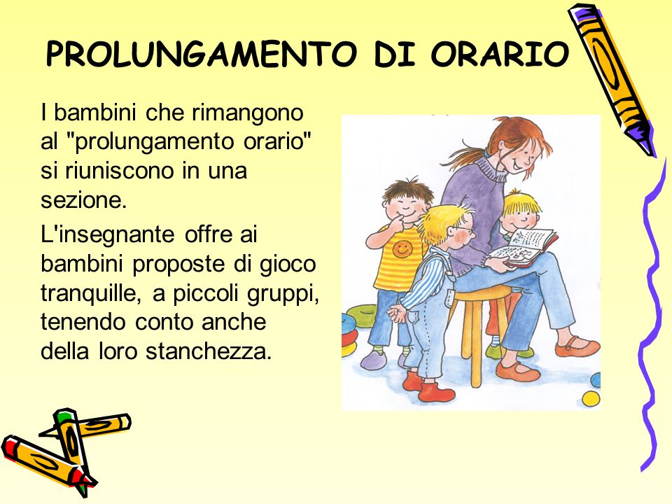 PROLUNGAMENTO DI ORARIO