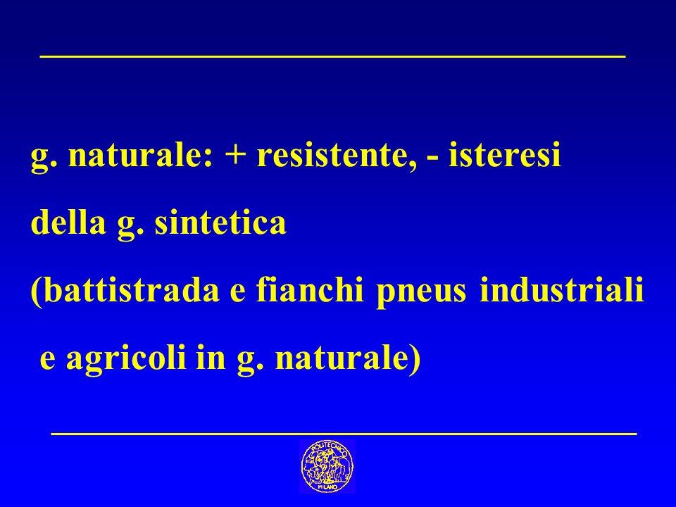 g. naturale: + resistente, - isteresi