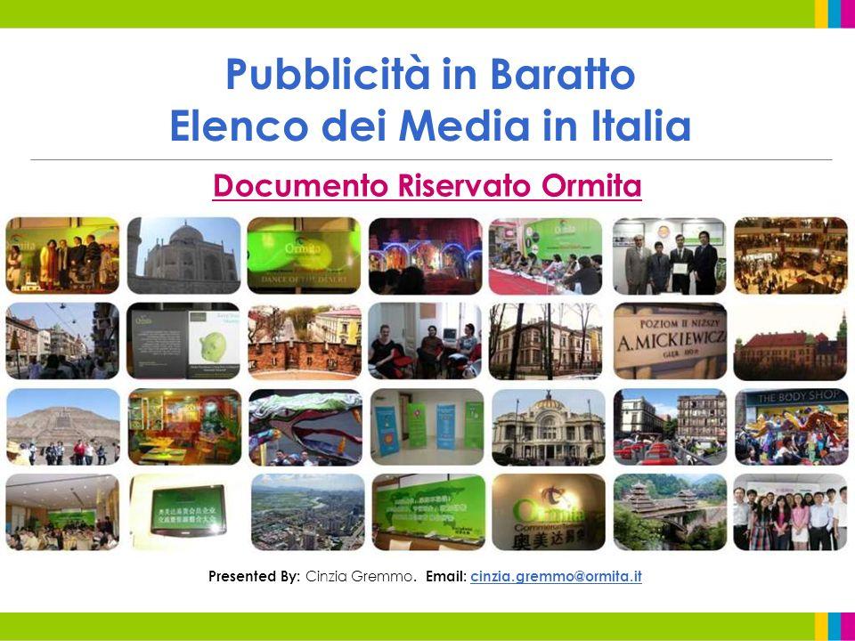 Pubblicità in Baratto Elenco dei Media in Italia