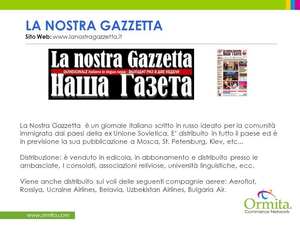 LA NOSTRA GAZZETTA Sito Web: www.lanostragazzetta.it