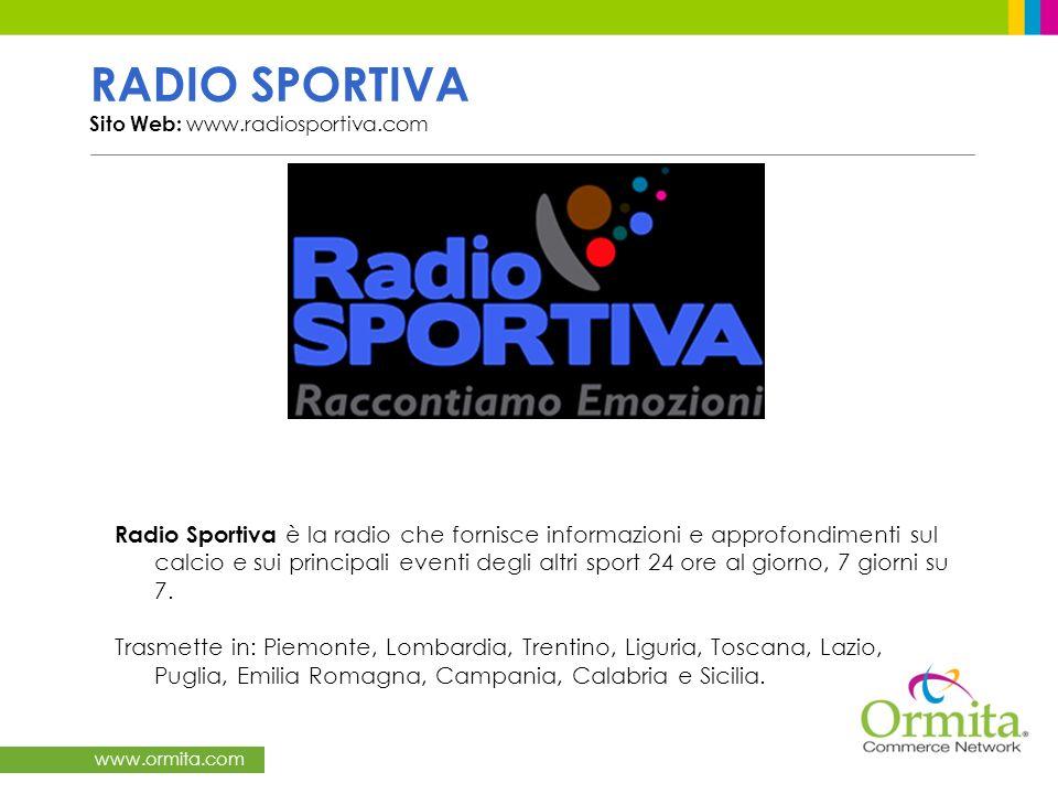 RADIO SPORTIVA Sito Web: www.radiosportiva.com