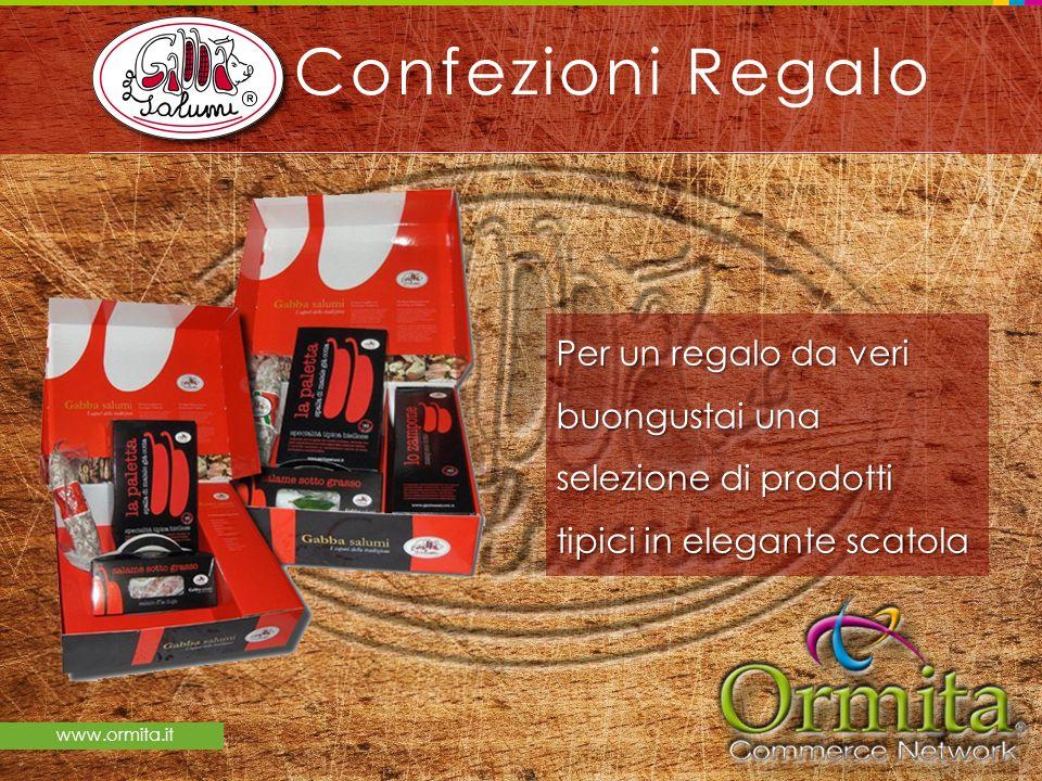 Confezioni Regalo Per un regalo da veri buongustai una selezione di prodotti tipici in elegante scatola.