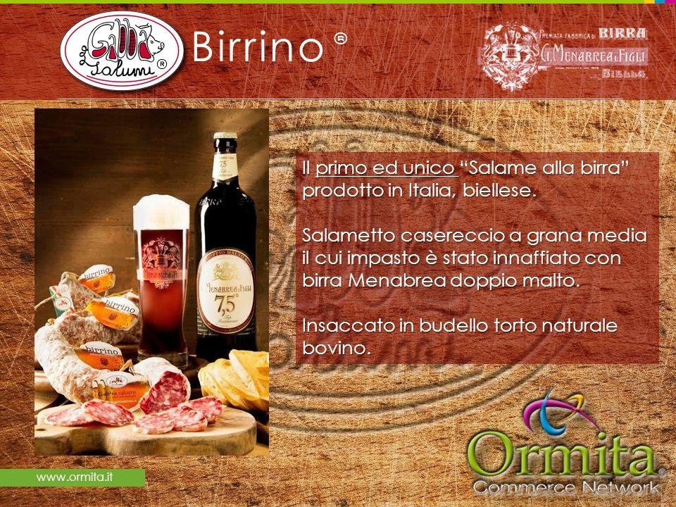 Birrino ® Il primo ed unico Salame alla birra prodotto in Italia, biellese.
