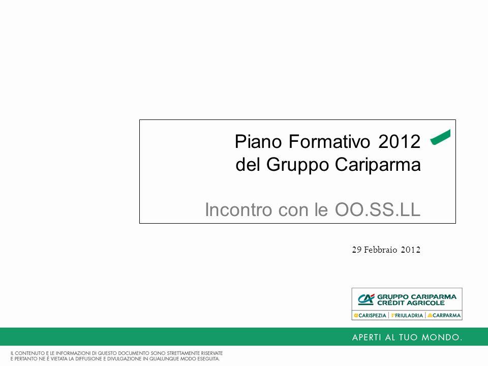 Piano Formativo 2012 del Gruppo Cariparma Incontro con le OO.SS.LL