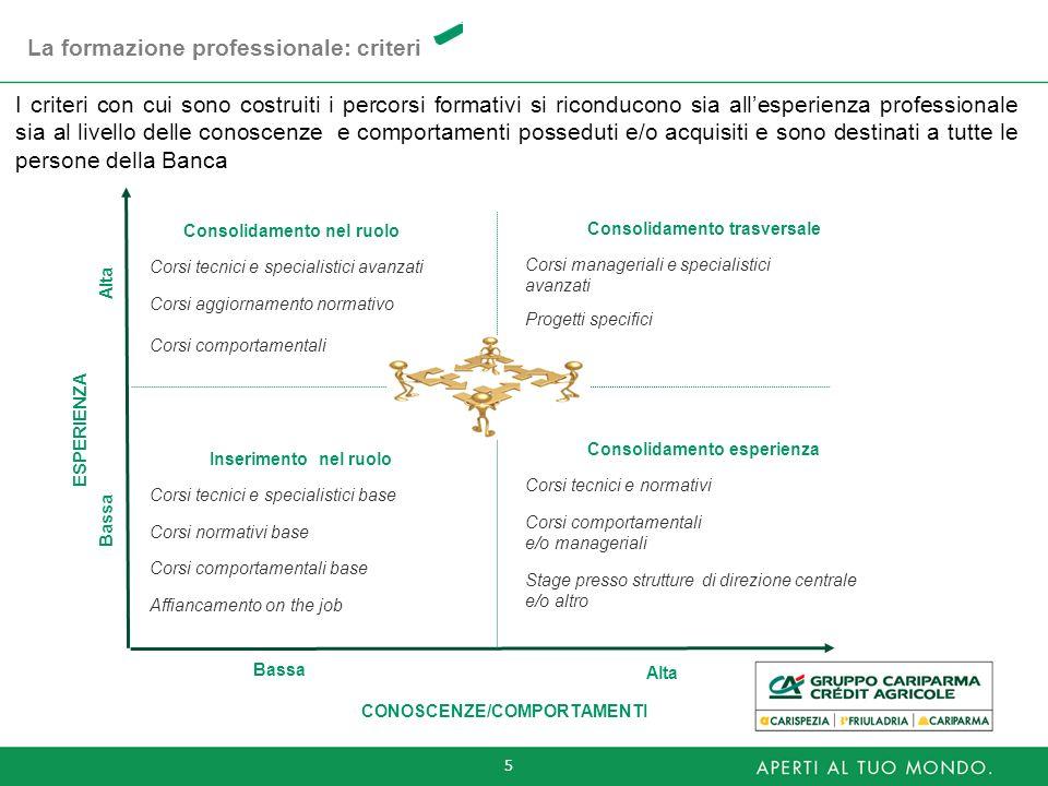 La formazione professionale: criteri