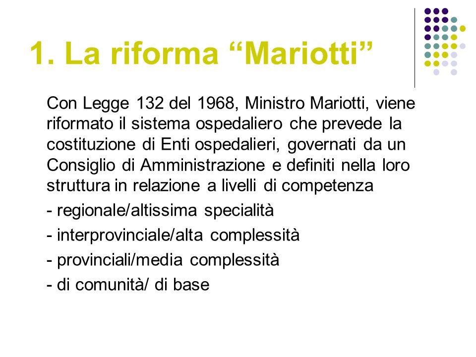 1. La riforma Mariotti