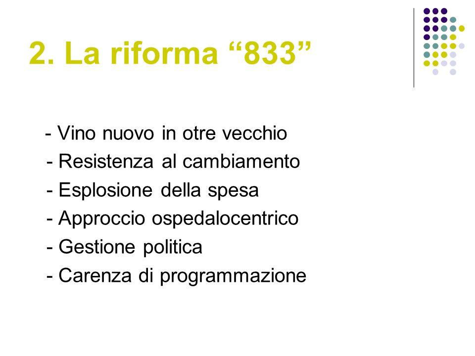 2. La riforma 833 - Vino nuovo in otre vecchio