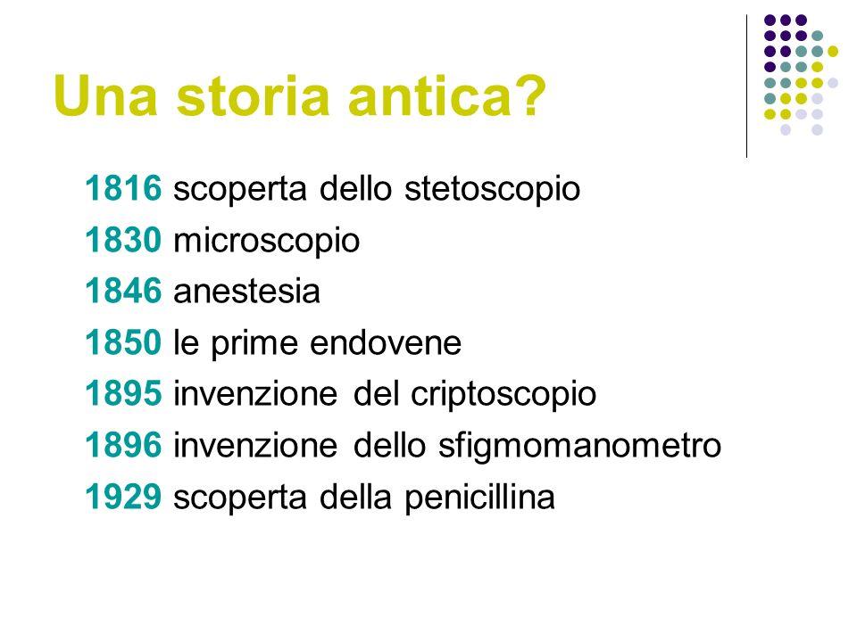 Una storia antica 1816 scoperta dello stetoscopio 1830 microscopio