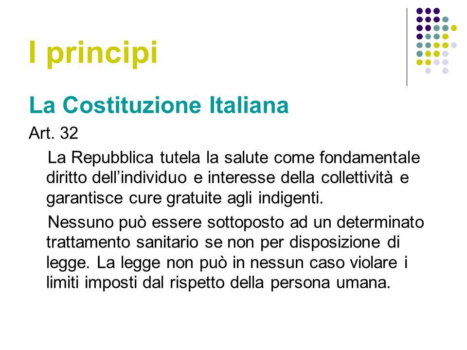 I principi La Costituzione Italiana Art. 32