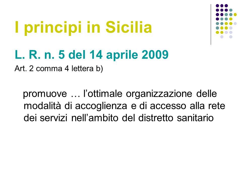 I principi in Sicilia L. R. n. 5 del 14 aprile 2009