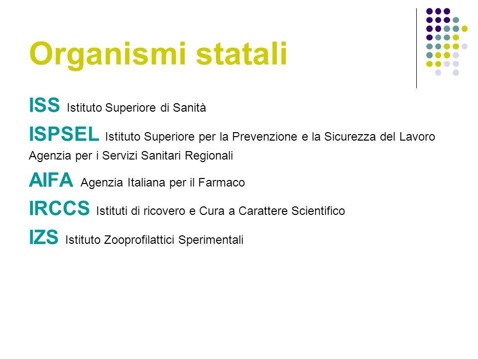 Organismi statali ISS Istituto Superiore di Sanità