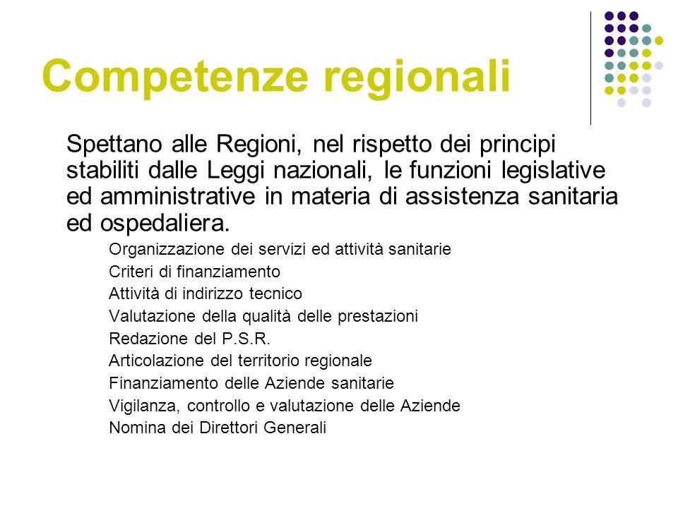 Competenze regionali