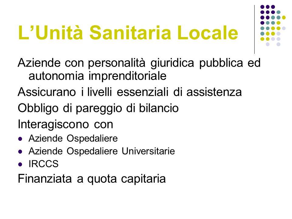 L'Unità Sanitaria Locale