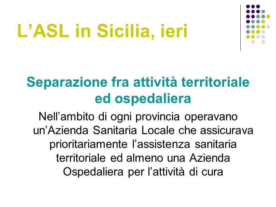 Separazione fra attività territoriale ed ospedaliera