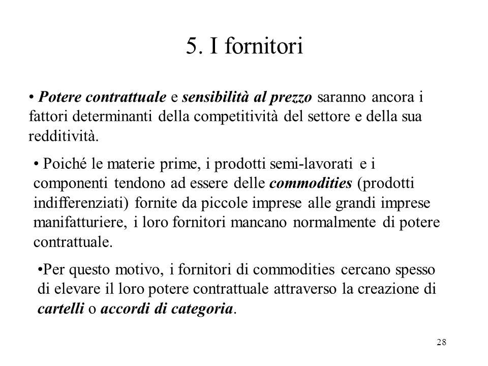 5. I fornitori