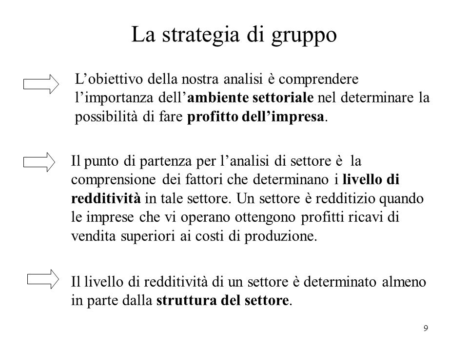 La strategia di gruppo