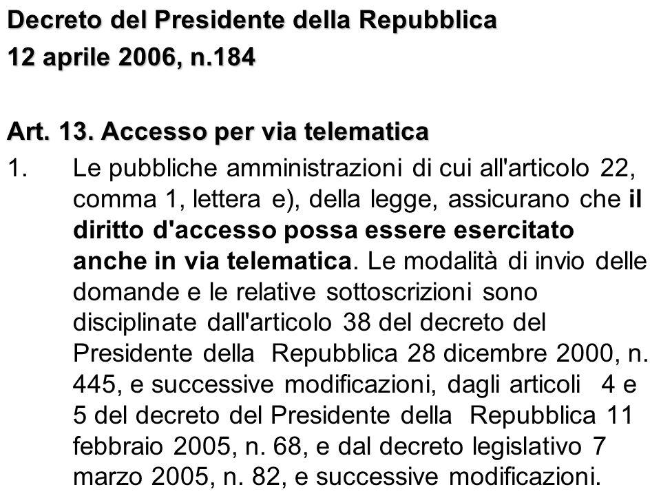 Decreto del Presidente della Repubblica