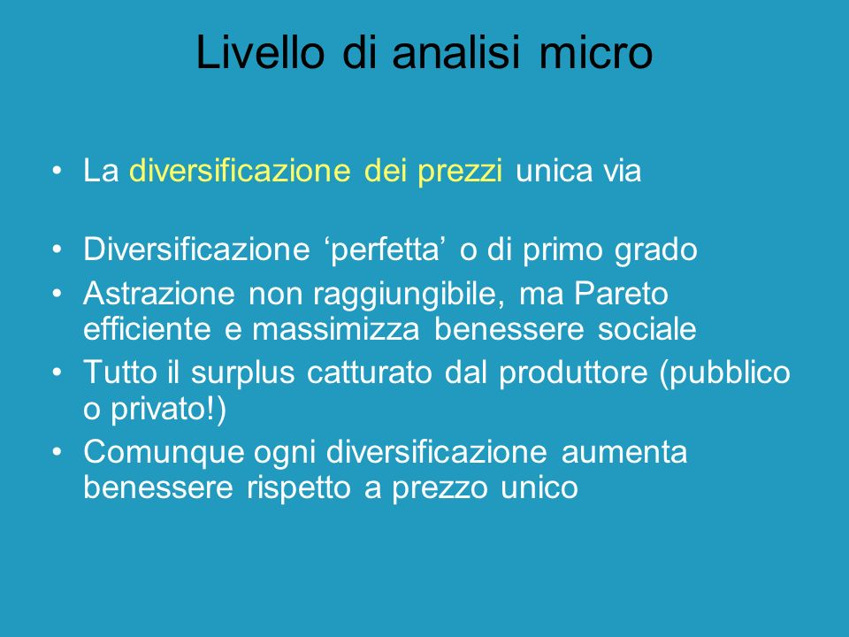 Livello di analisi micro
