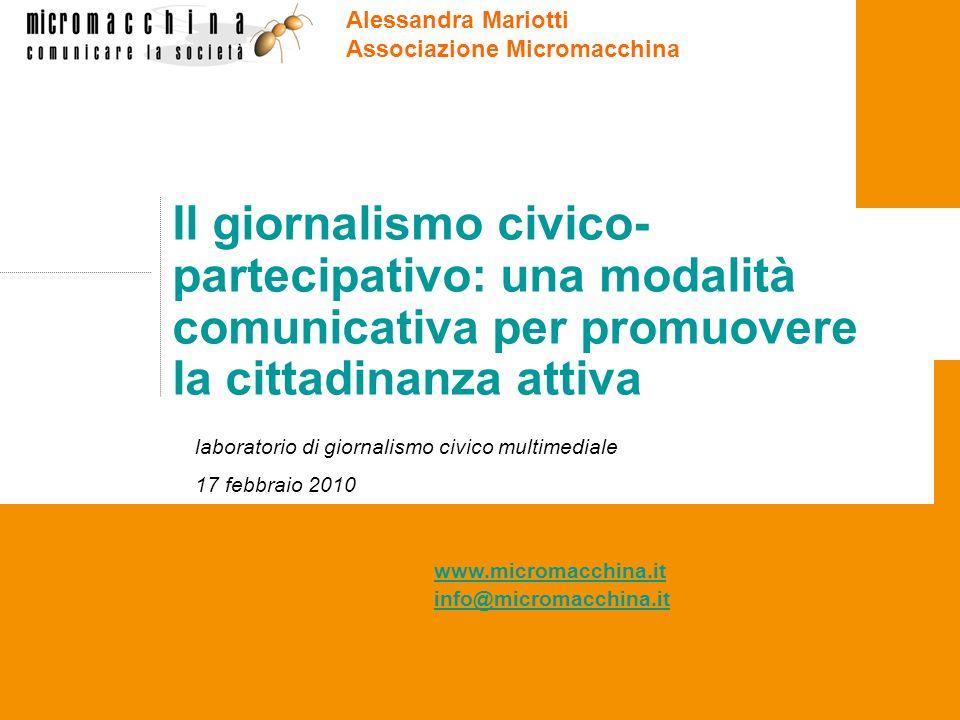 Alessandra Mariotti Associazione Micromacchina.