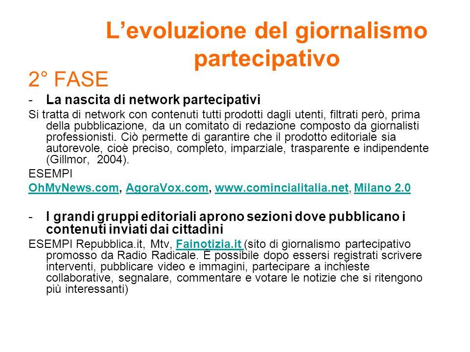 L'evoluzione del giornalismo partecipativo