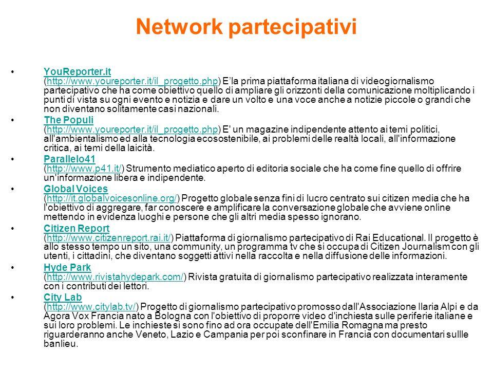 Network partecipativi