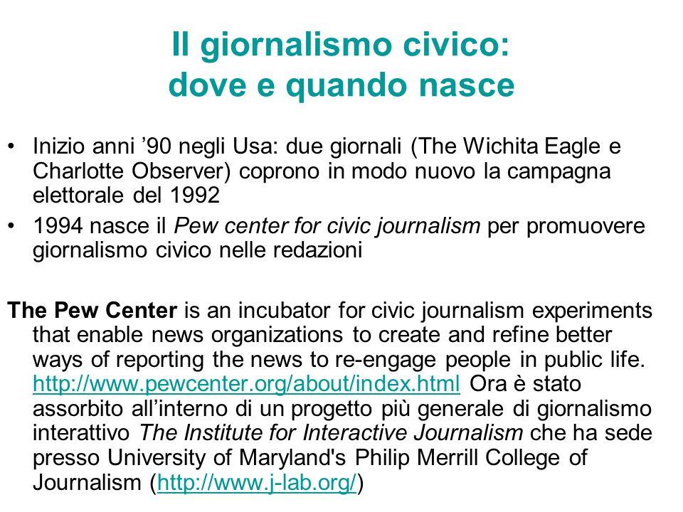 Il giornalismo civico: dove e quando nasce