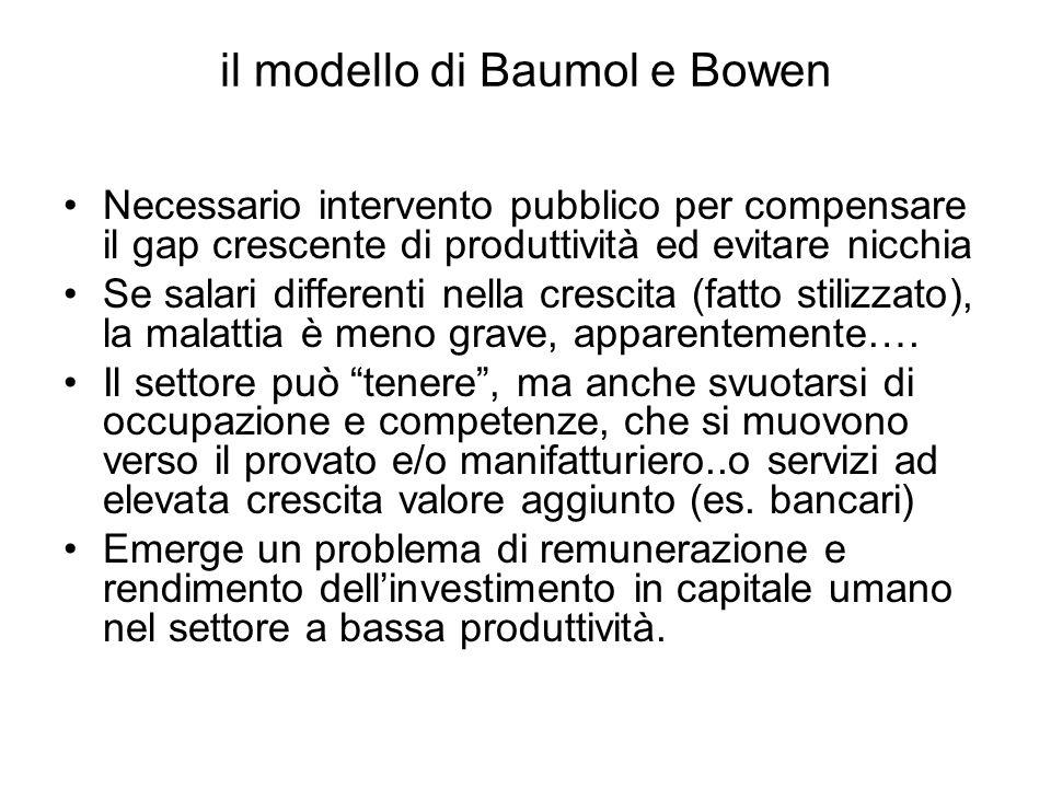 il modello di Baumol e Bowen