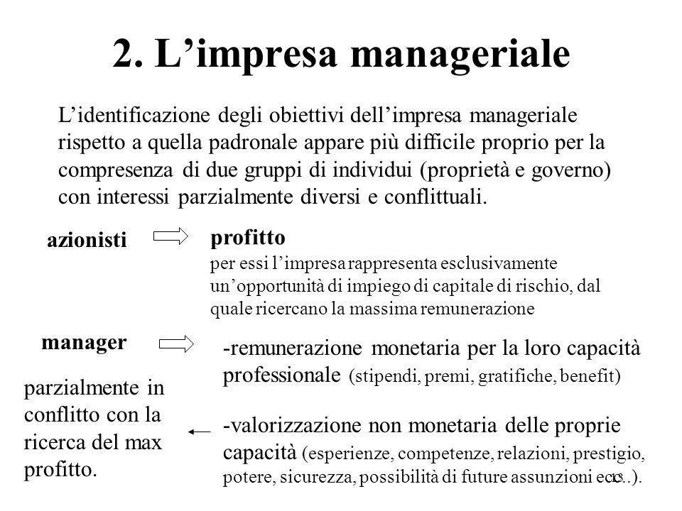 2. L'impresa manageriale