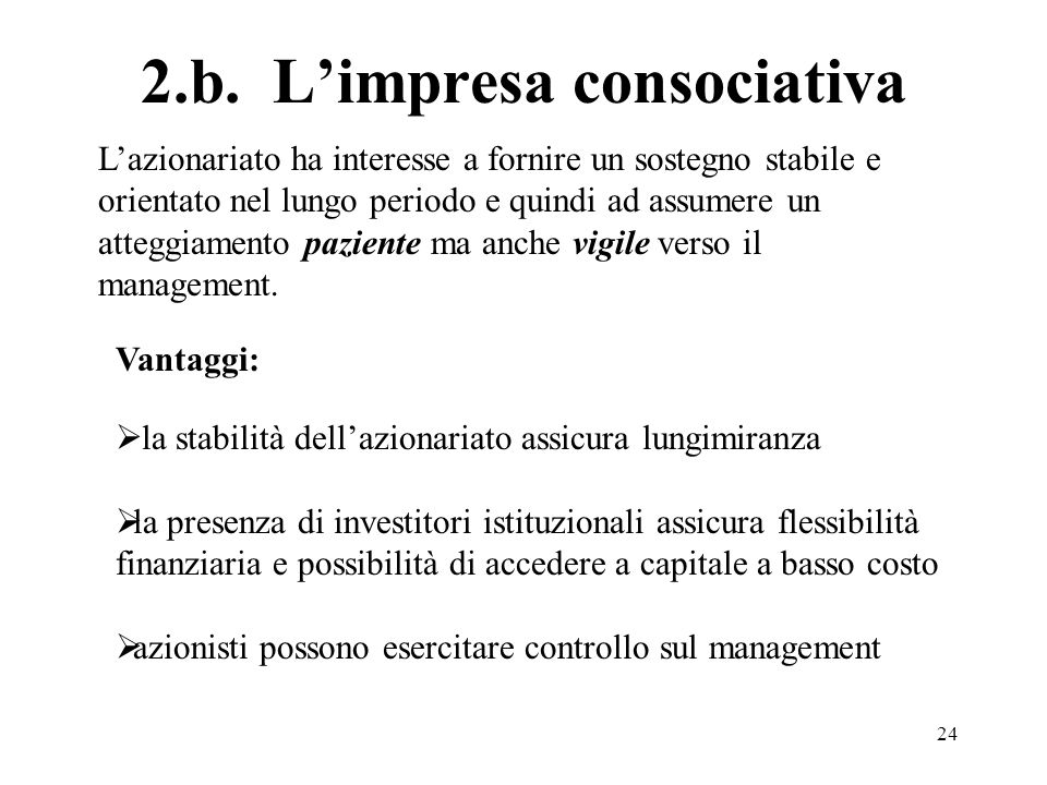 2.b. L'impresa consociativa
