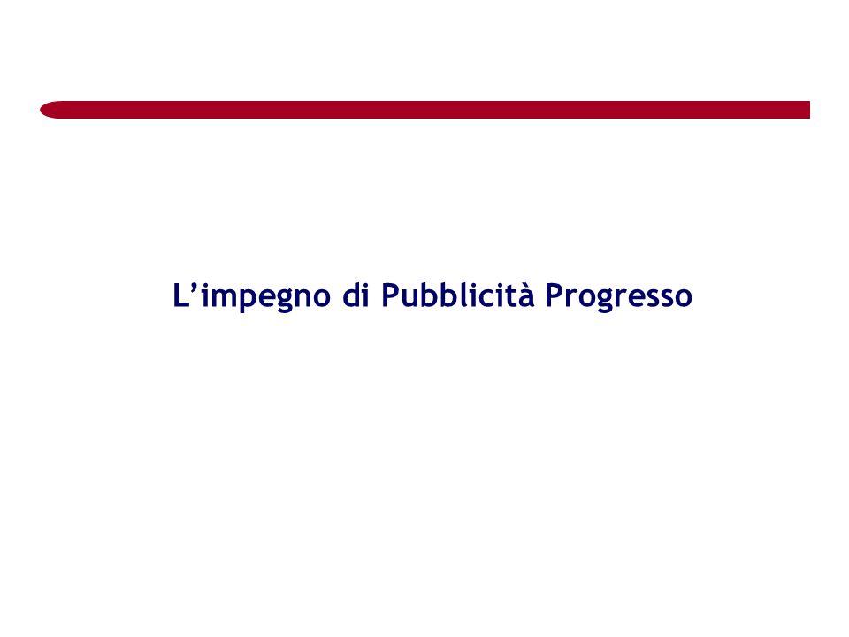 L'impegno di Pubblicità Progresso