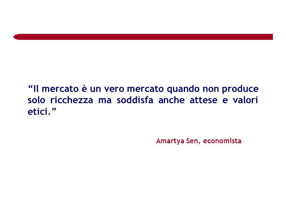 Il mercato è un vero mercato quando non produce solo ricchezza ma soddisfa anche attese e valori etici.