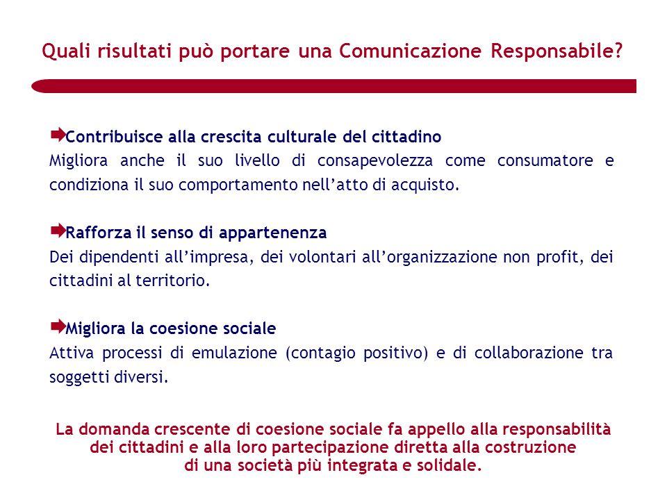 Quali risultati può portare una Comunicazione Responsabile