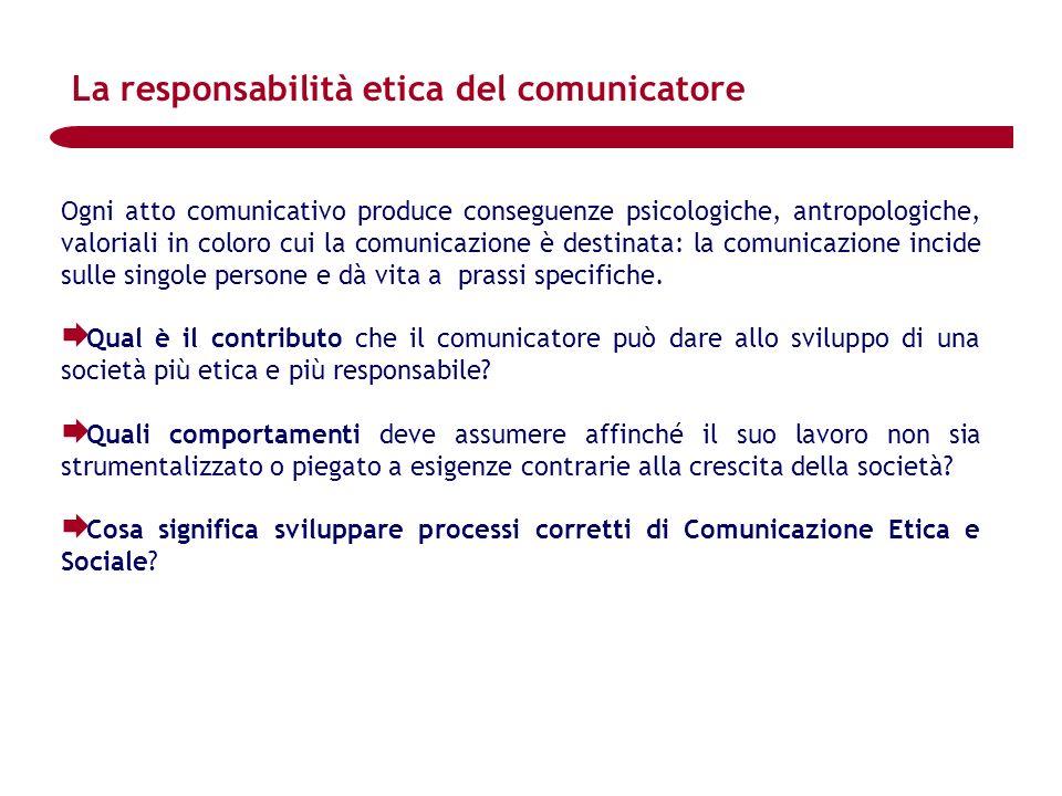 La responsabilità etica del comunicatore