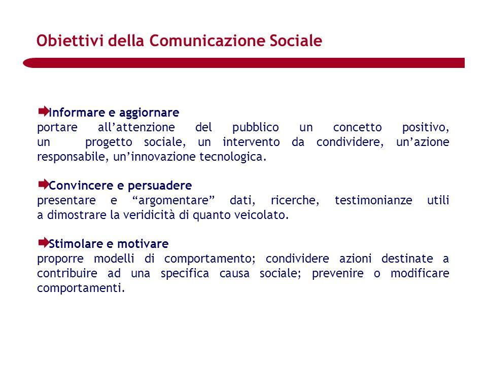 Obiettivi della Comunicazione Sociale