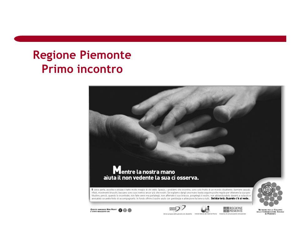 Regione Piemonte Primo incontro