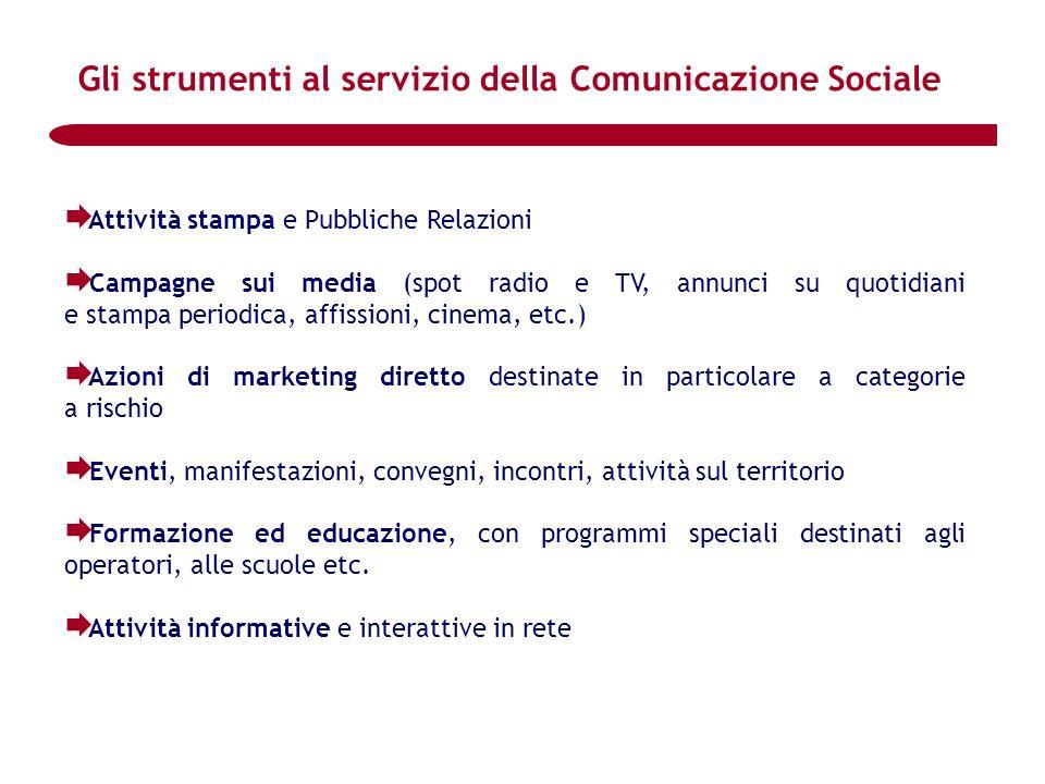 Gli strumenti al servizio della Comunicazione Sociale
