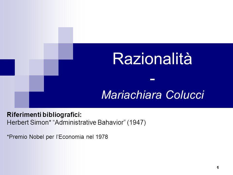 Razionalità - Mariachiara Colucci