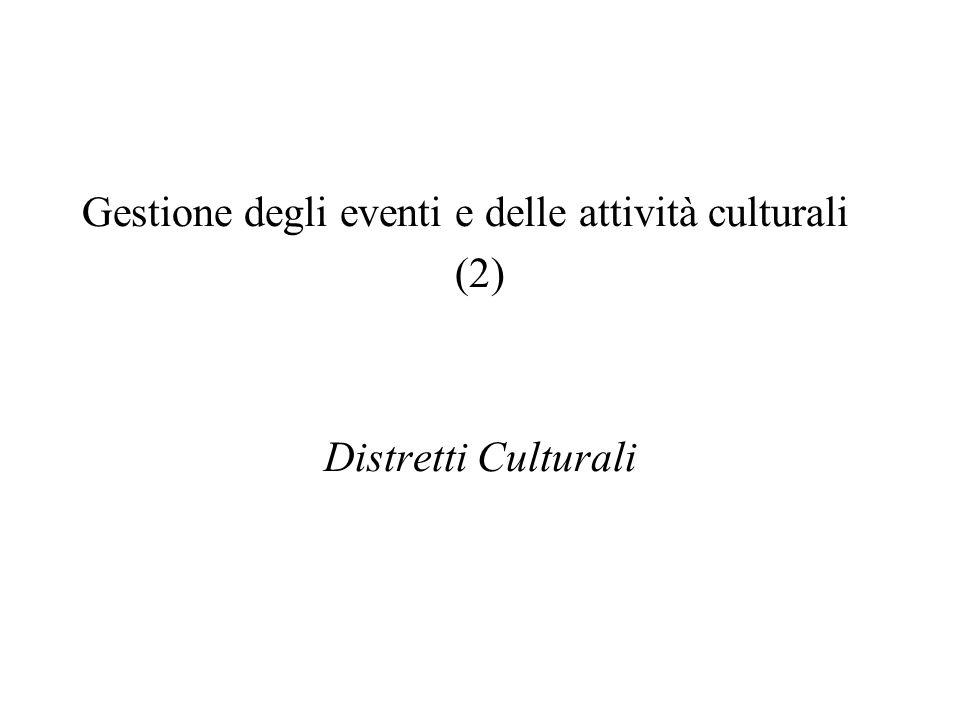 Gestione degli eventi e delle attività culturali