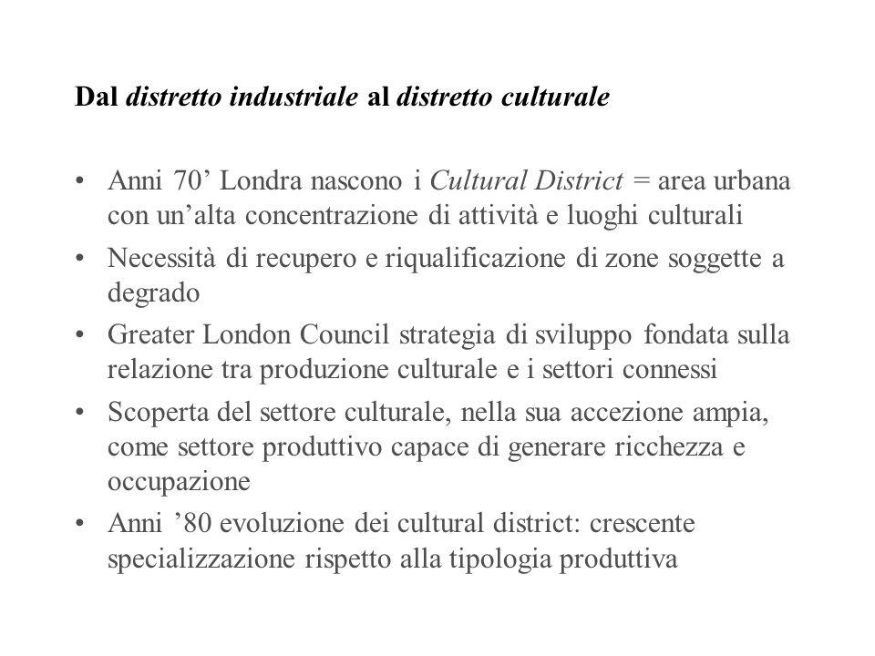 Dal distretto industriale al distretto culturale