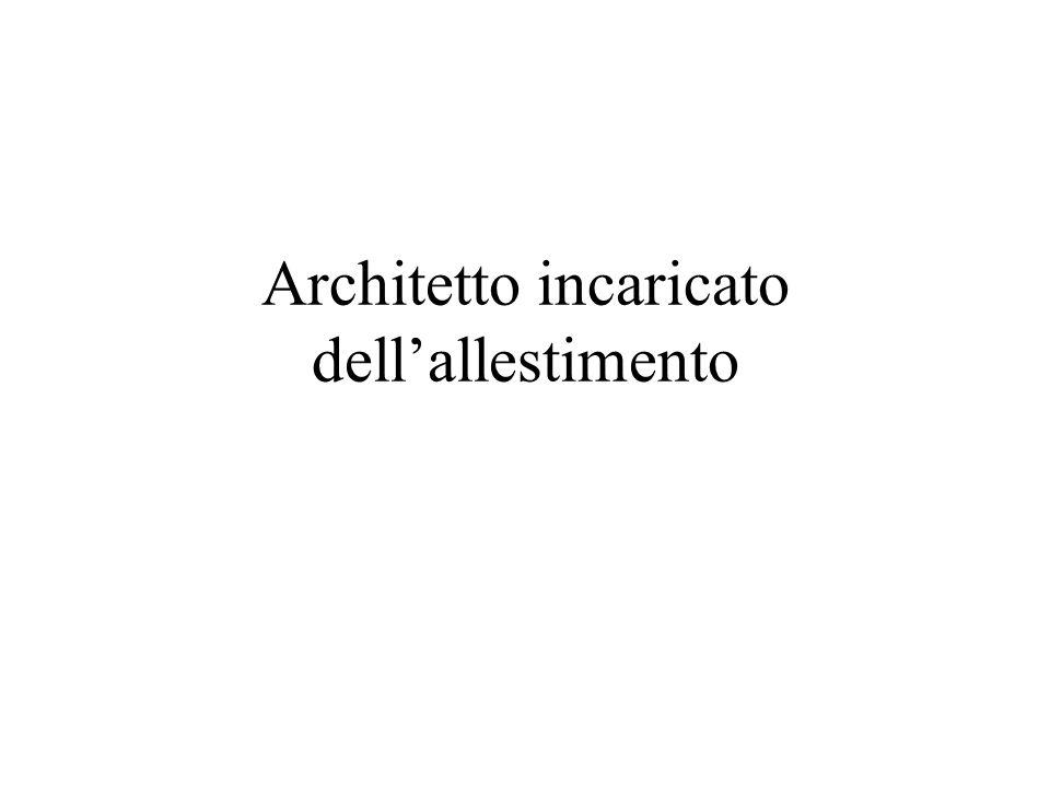 Architetto incaricato dell'allestimento