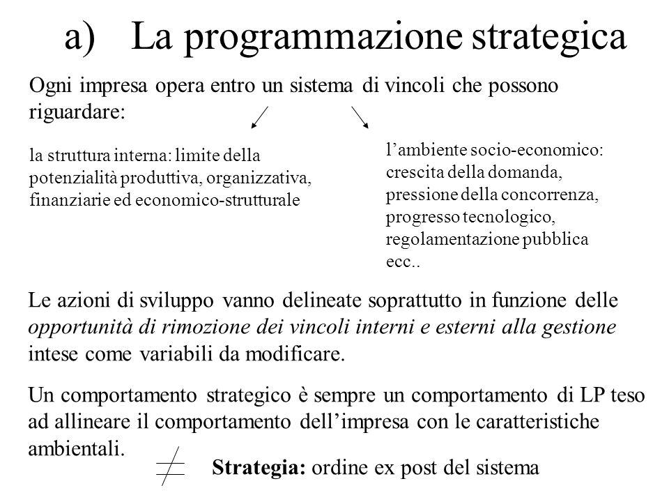 a) La programmazione strategica