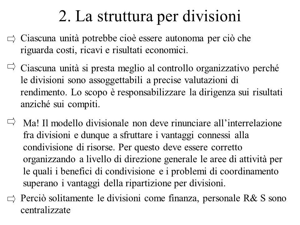 2. La struttura per divisioni